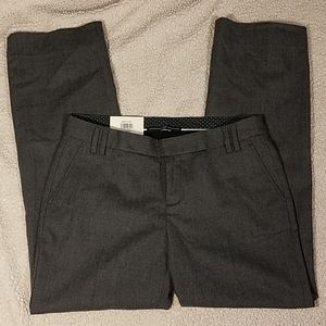 Gap Stretch Straight Gray Wool Ankle Trousers Sz 8